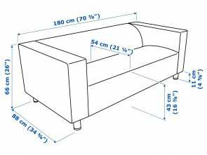 Klippan Ikea España, Elegante IKEA KLIPPAN 2-Seat Sofa, Cover Is Easy To Keep Clean Since It Is