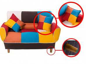 plaid divano amazon Amazon.com: Merax WF006643ZAA Contemporary Multicolor Loveseat Adjustable Split Back Futon Upholstered Foldable Sofa Couch Sleeper with 2 Free Pillows Bellissima 5 Plaid Divano Amazon