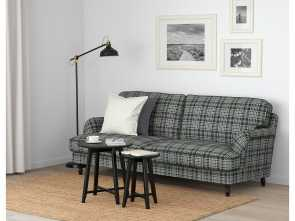 plaid divano ikea STOCKSUND Sofa, Nolhaga gray-beige, black/wood Divertente 6 Plaid Divano Ikea