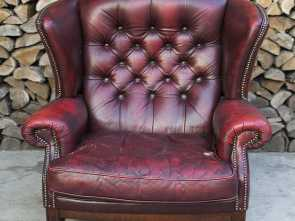 poltrone vintage bordeaux Poltrona Chesterfield Queen Anne originale inglese vintage in vera pelle color bordeaux Buono 6 Poltrone Vintage Bordeaux