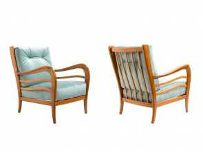 Poltrone Vintage Paolo Buffa, Originale Armchairs By Paolo Buffa, 1950S,, Of 2