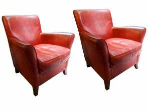 poltrone vintage shop online 20th Century, Vintage Leather Original Baxter Armchairs Migliore 5 Poltrone Vintage Shop Online