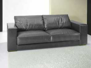 santambrogio divani monza Contemporary sofa / leather / 3-seater / black, MONZA : MICHIGAN Maestoso 5 Santambrogio Divani Monza
