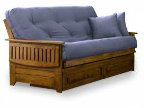 Sofa Cama Grankulla Ikea, Originale Brentwood Tray, Full Size Wood Futon Frame, Storage Drawers, Heritage Finish