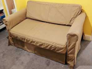 Washing Ikea Futon Cover, Deale Ikea Beige Hagalund Sofa, With Storage & Machine Washable Cover Good Condition Delivery Possible
