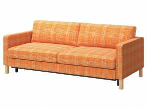 Washing Ikea Futon Cover, Locale KARLSTAD Sofa,, Husie Orange, IKEA, Couch With Washable Slip Cover