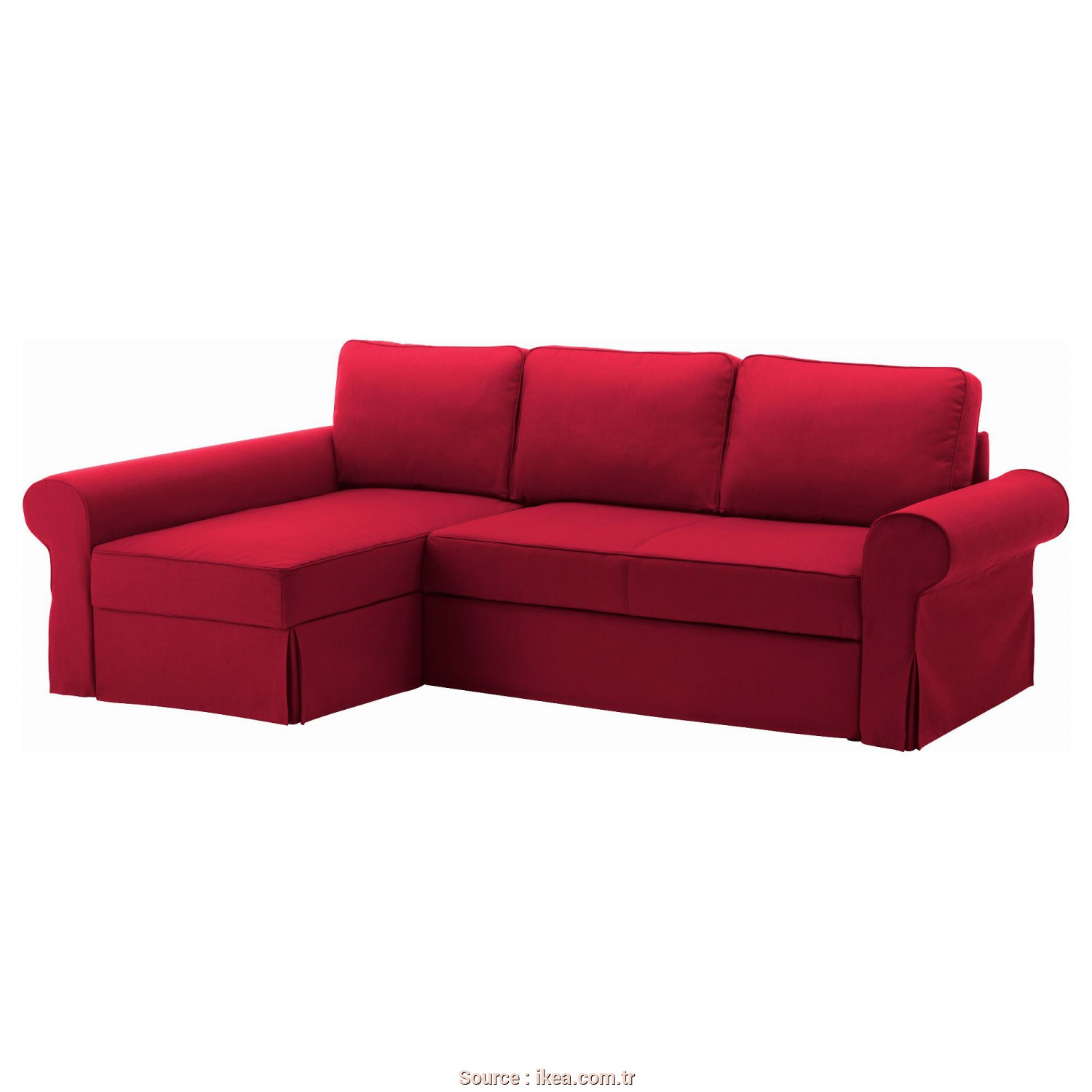 Vilasund Bettsofa Ikea, Ideale BACKABRO/MARIEBY 2-Seat Sofa, With Chaise Longue Nordvalla Red, IKEA Living Room
