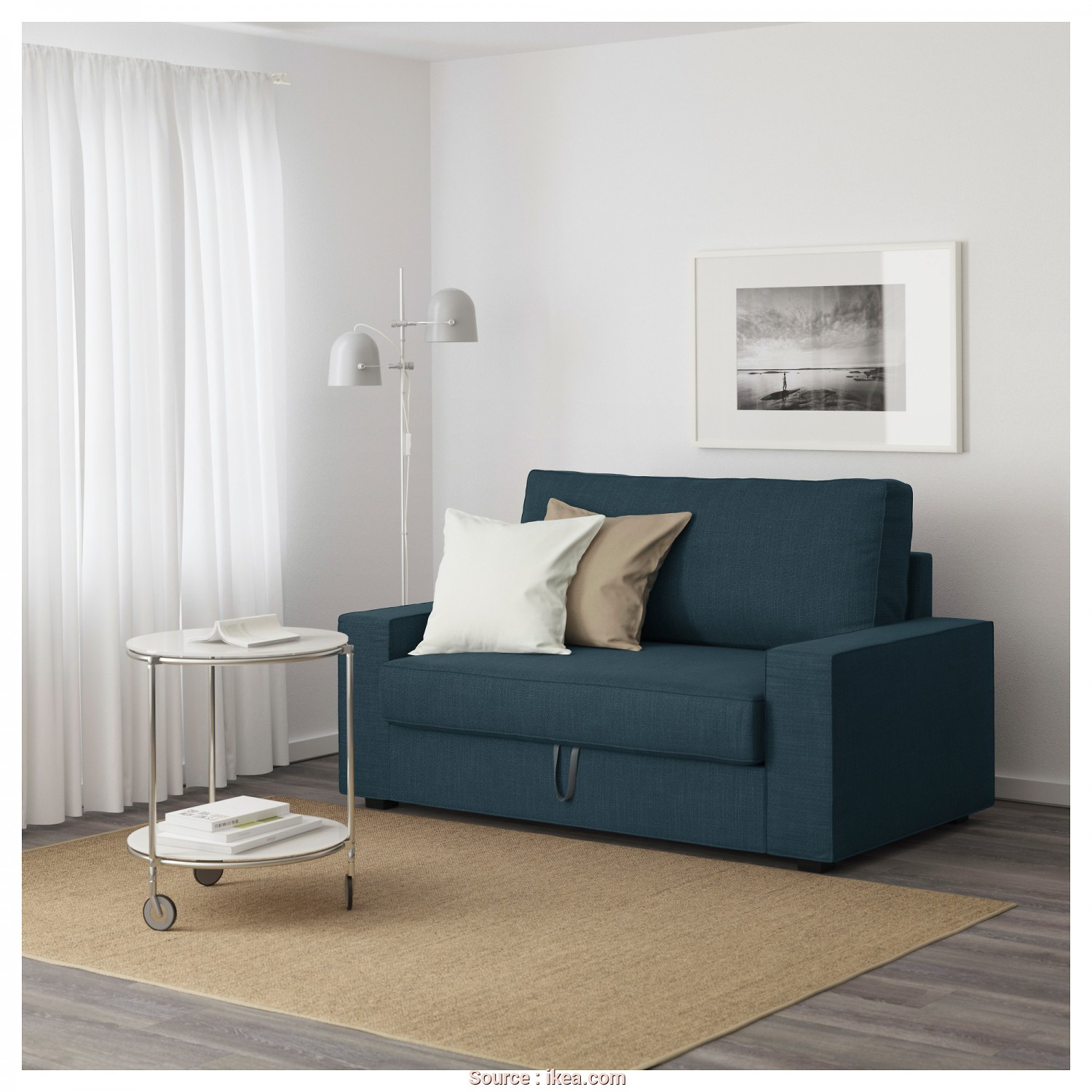 Vilasund Ikea España, Rustico VILASUND Two-Seat Sofa-Bed Hillared Dark Blue