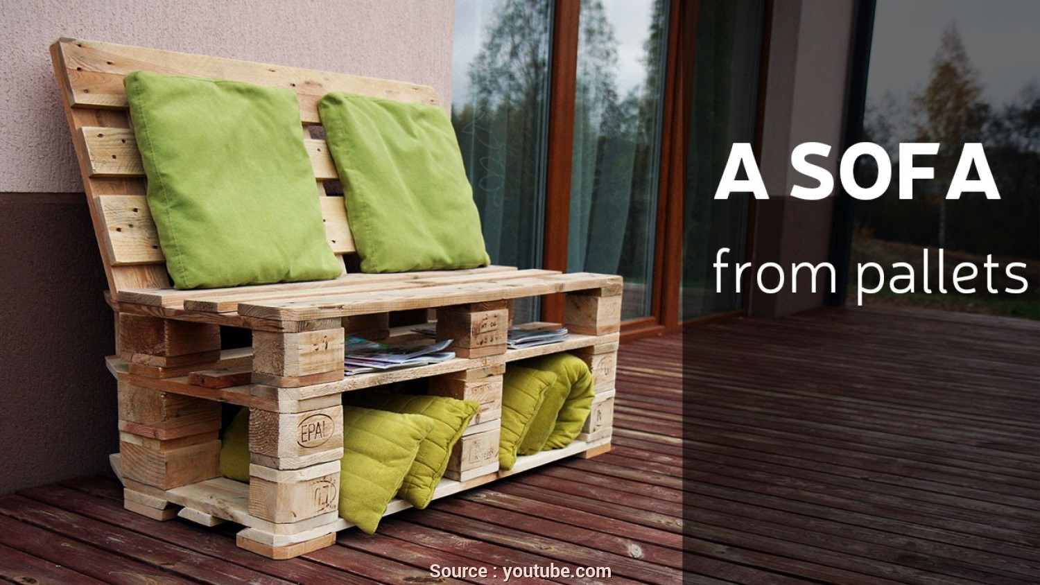 Youtube Divano, Pallet, Affascinante How To Make A Sofa From Pallets