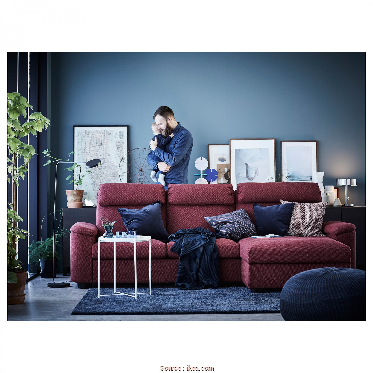 Divano Ikea Lidhult, Casuale IKEA LIDHULT 3-Seat Sofa, Cover Is Easy To Keep Clean Since It Is