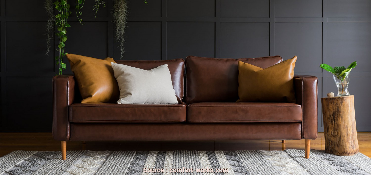 Fodera Divano Ikea Karlstad, Deale IKEA Karlstad 3 Seater Sofa Covered With Urbanskin Chestnut Bycast Leather Collection Slipcover From Comfort Works