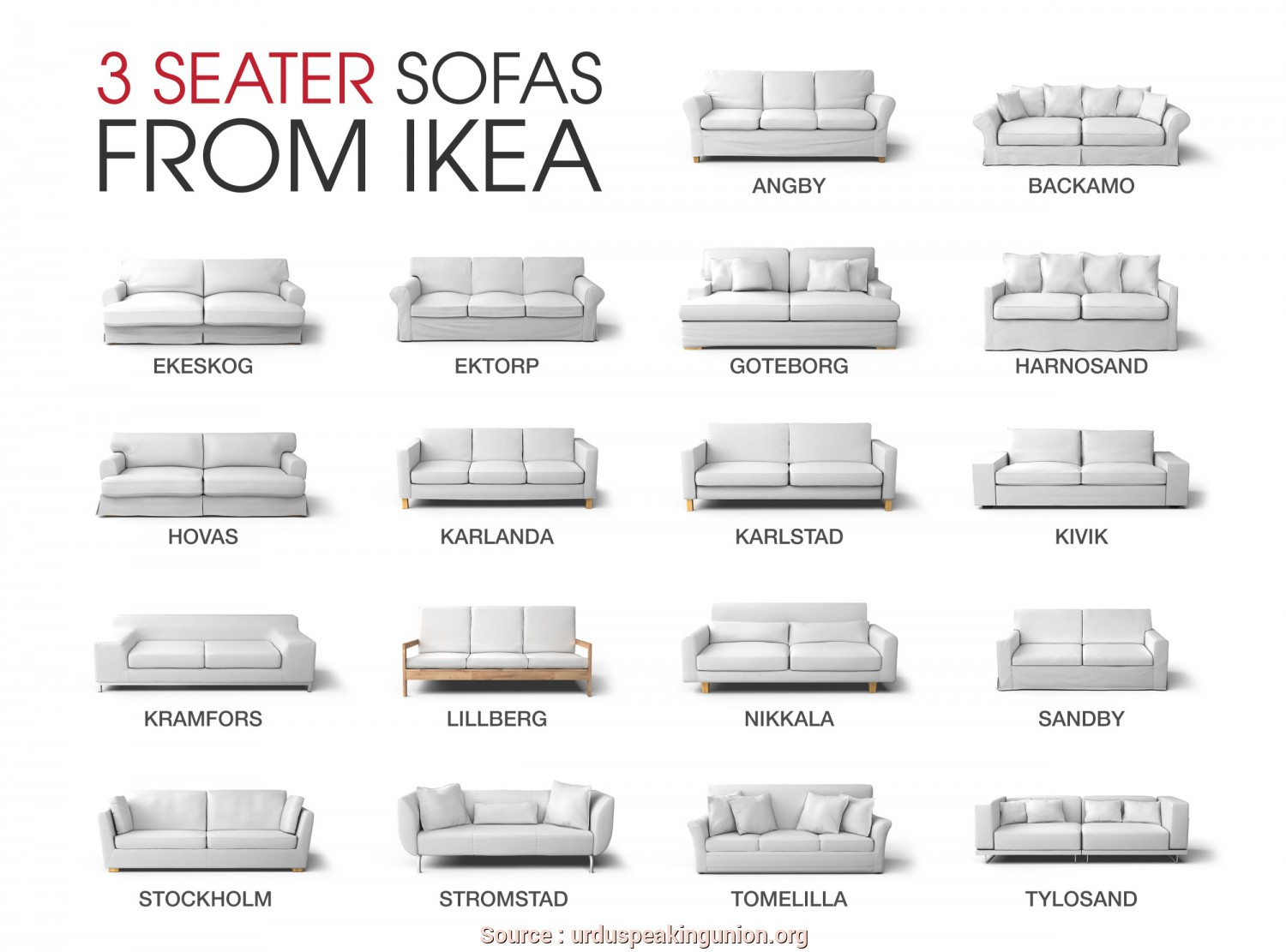 Loveable 4 Ikea Klippan 3 Seater Sofa Dimensions - Jake ...
