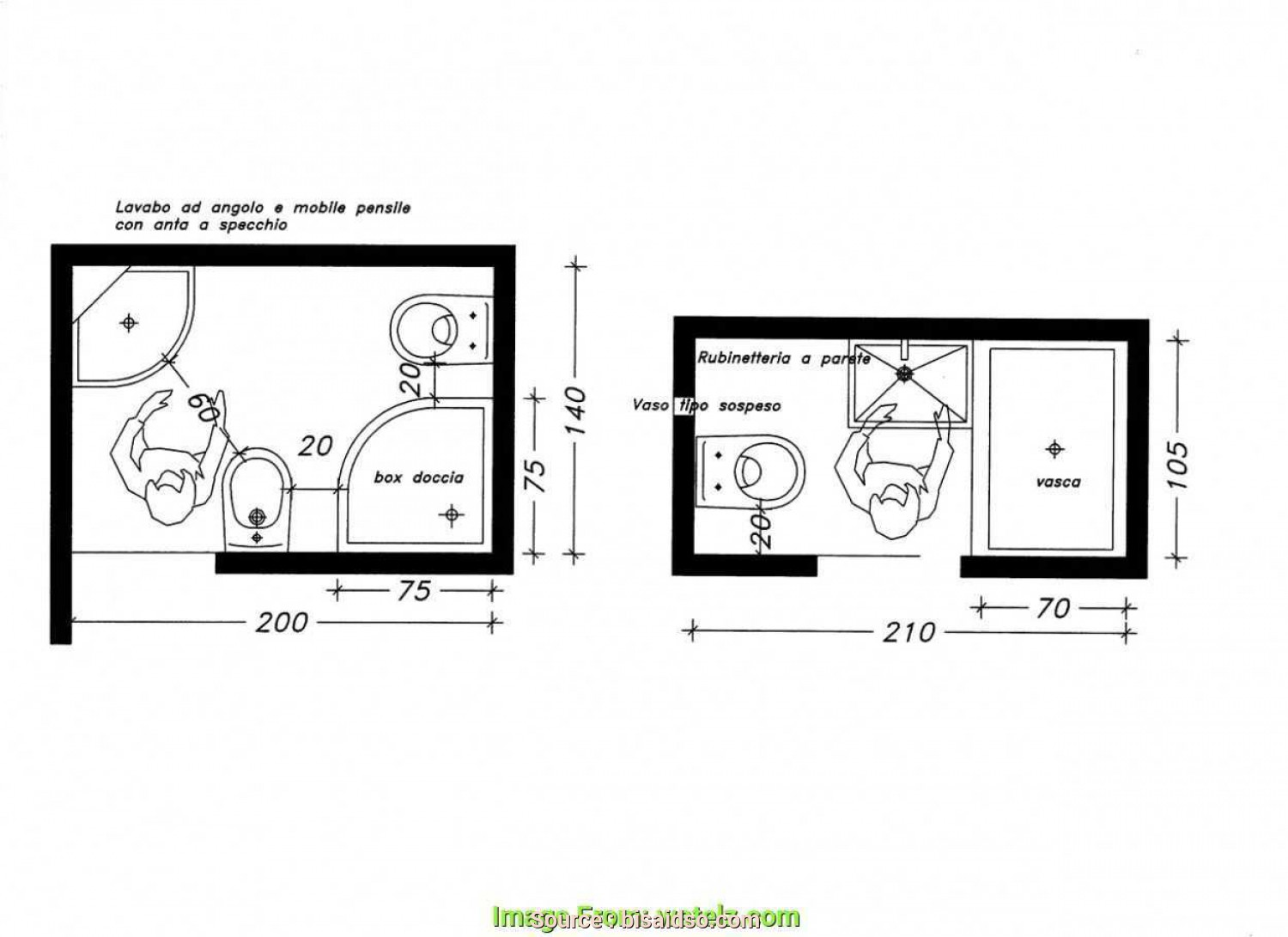 Letto Circolare Dwg, Rustico Vasca, Archweb Beautiful Wc, Dwg Great Cheap Plan Wc Handicap With Plan Wc Handicap