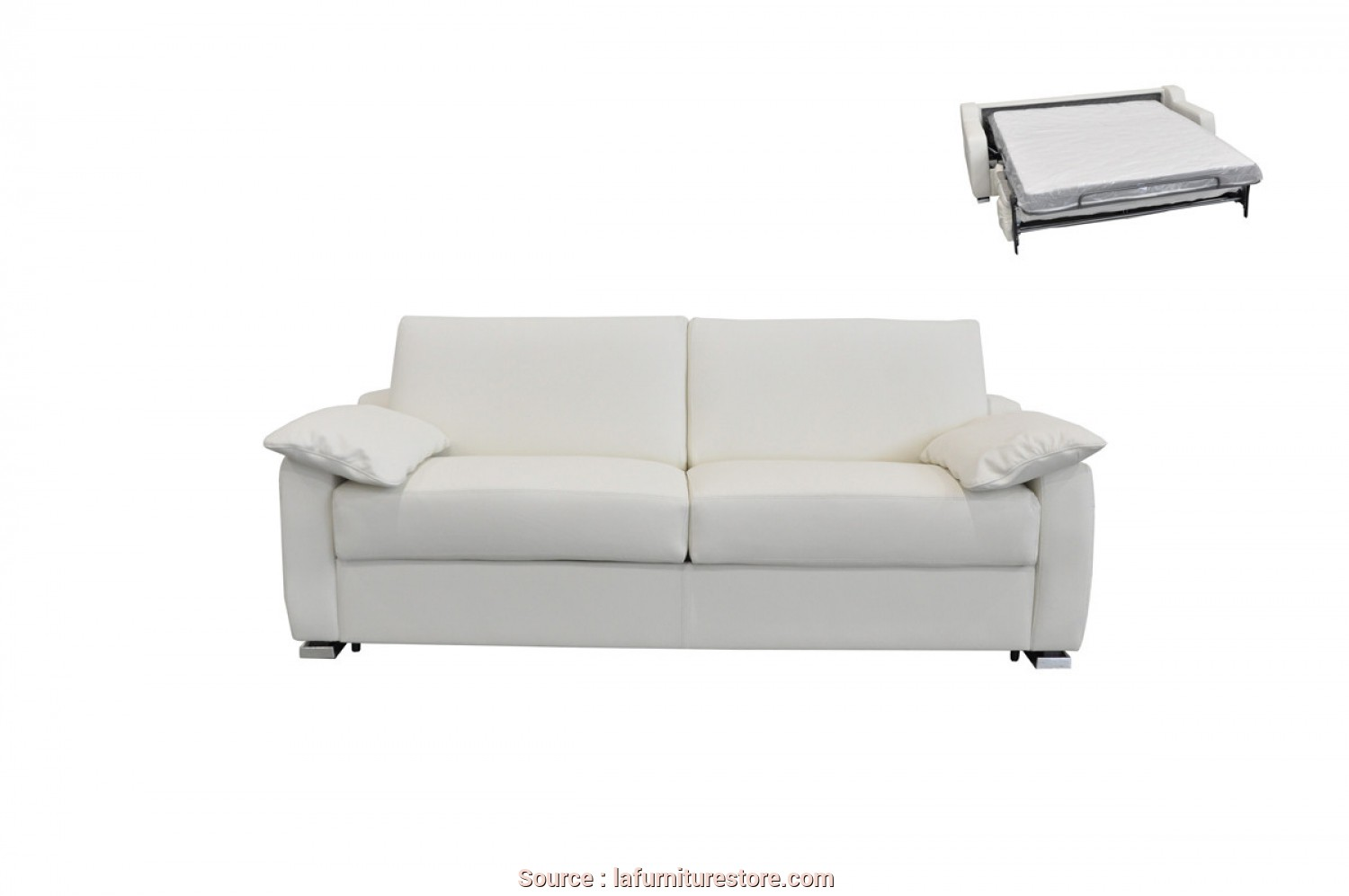 Sb Salotti Pavese, Semplice Estro Salotti Dalia Italian Modern White Leather Sofa Bed