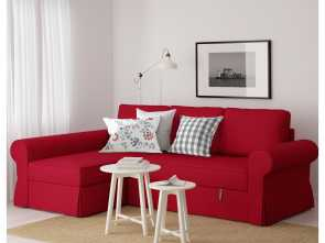 backabro sofa bed with chaise longue £725 ikea BACKABRO Sofa, with chaise longue Nordvalla red Casuale 6 Backabro Sofa, With Chaise Longue £725 Ikea