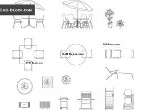 Chaise Longue, 2D, Semplice Chaise Lounge, Blocks, Free AutoCAD Drawings Download