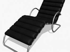 chaise longue mies dwg MR chaise lounge chair with arms royalty-free 3d model, Preview, 1 Maestoso 4 Chaise Longue Mies Dwg