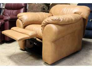 Divani Chateau D'Ax Graal, Esotico Chateau D'Ax Leather Recliner, Upscale Consignment