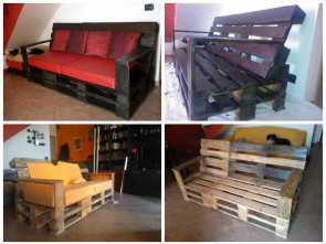 divano in pallets ... pallets, polished, refurbished., idea, born from, need to, a, sofa, we wanted to build, home furniture by ourselves. Divano Bello 6 Divano In Pallets