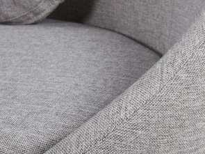 Divano Willy Maison Du Monde, Magnifico Mottled Light Grey 3-Seater Fabric Sofa Willy
