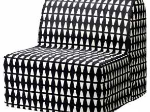 futon ikea grankulla prix IKEA LYCKSELE HÅVET chair-bed Cover made of durable cotton with a geometric pattern Loveable 6 Futon Ikea Grankulla Prix
