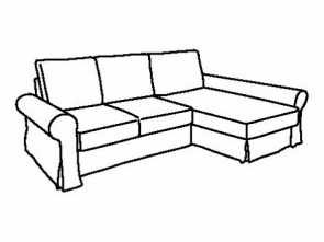 ikea backabro sofa bed assembly instructions BACKABRO frame sofa-bed with chaise longue Bello 5 Ikea Backabro Sofa, Assembly Instructions